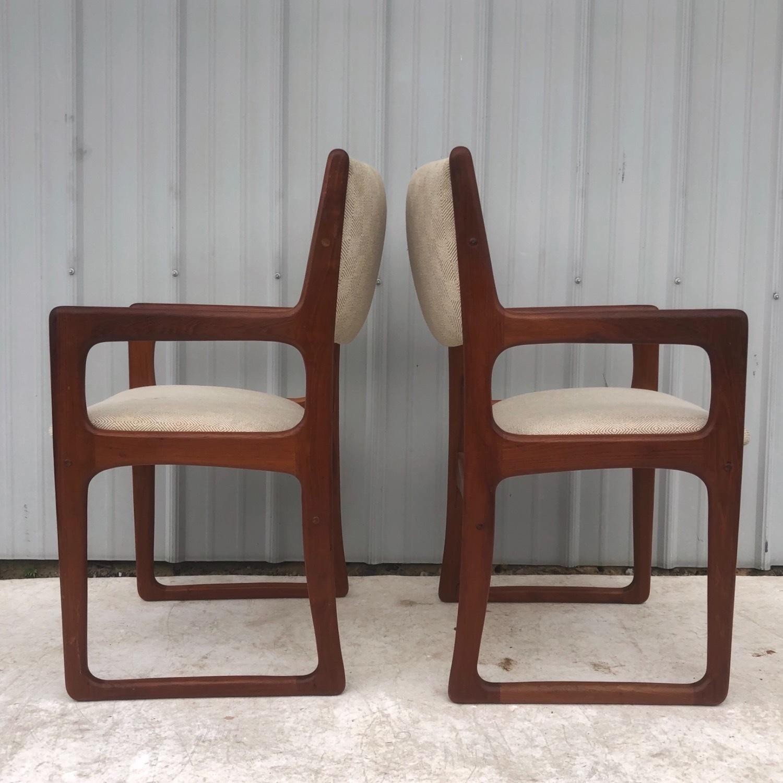 Set of Six Mid-Century Teak Dining Chairs - image-11