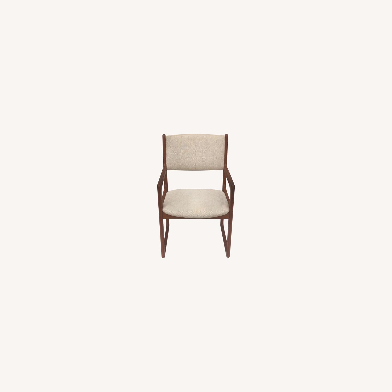 Set of Six Mid-Century Teak Dining Chairs - image-0