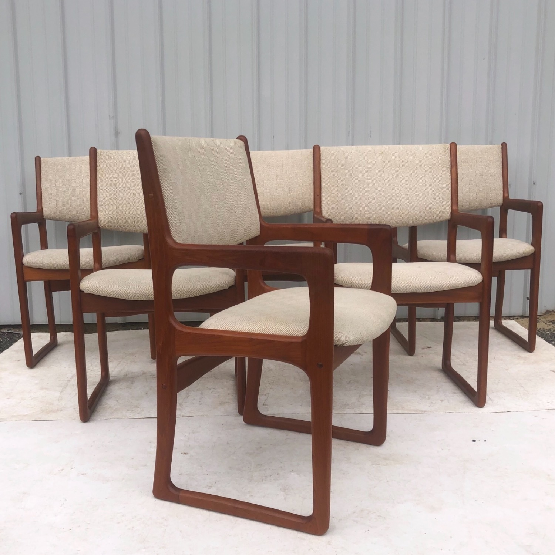 Set of Six Mid-Century Teak Dining Chairs - image-2