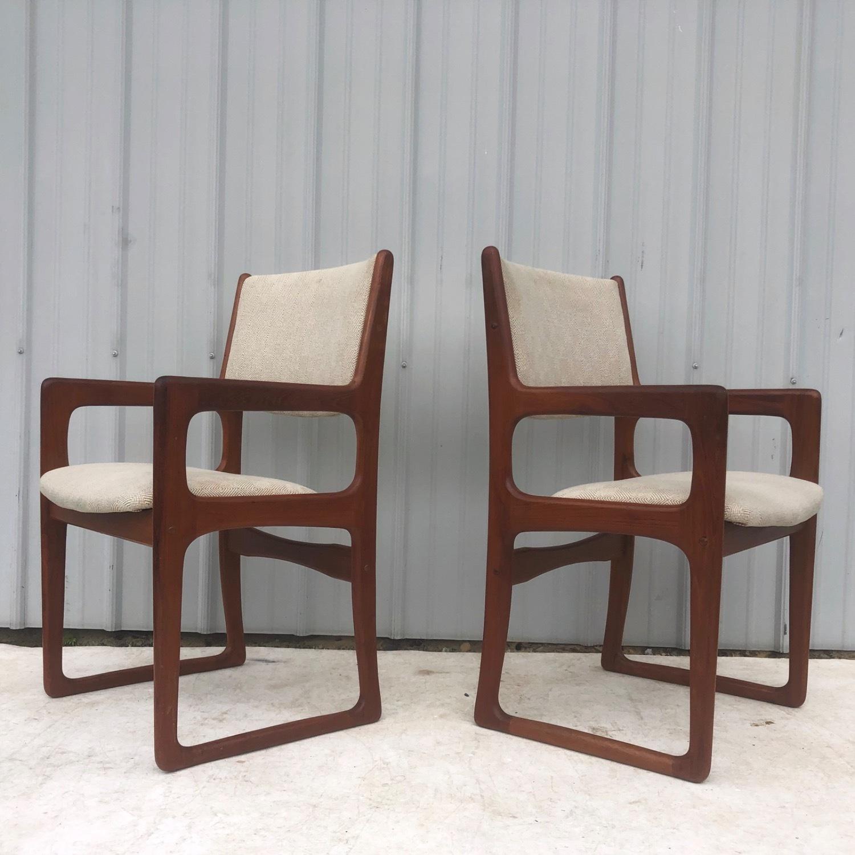 Set of Six Mid-Century Teak Dining Chairs - image-6