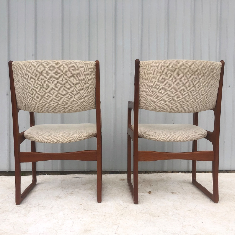 Set of Six Mid-Century Teak Dining Chairs - image-13