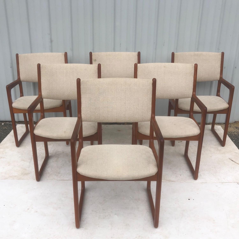 Set of Six Mid-Century Teak Dining Chairs - image-1