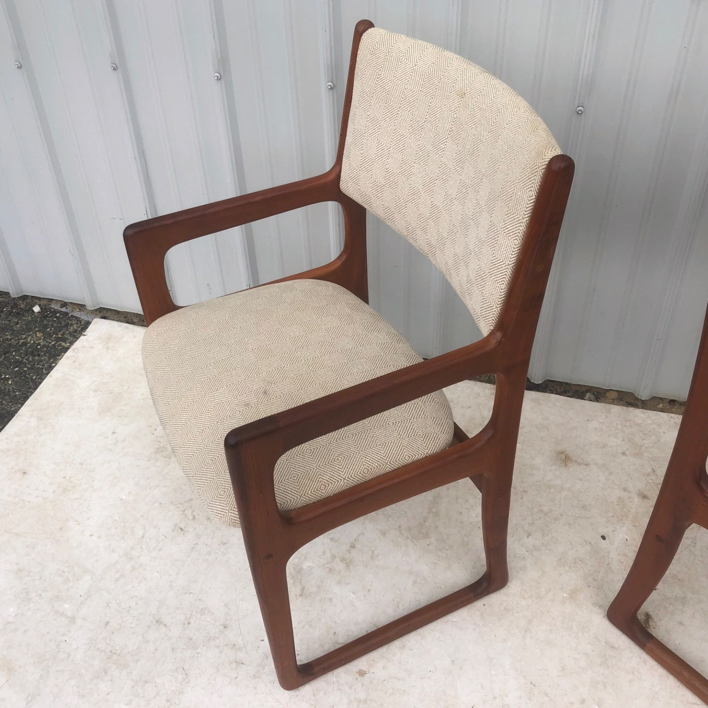 Set of Six Mid-Century Teak Dining Chairs - image-8