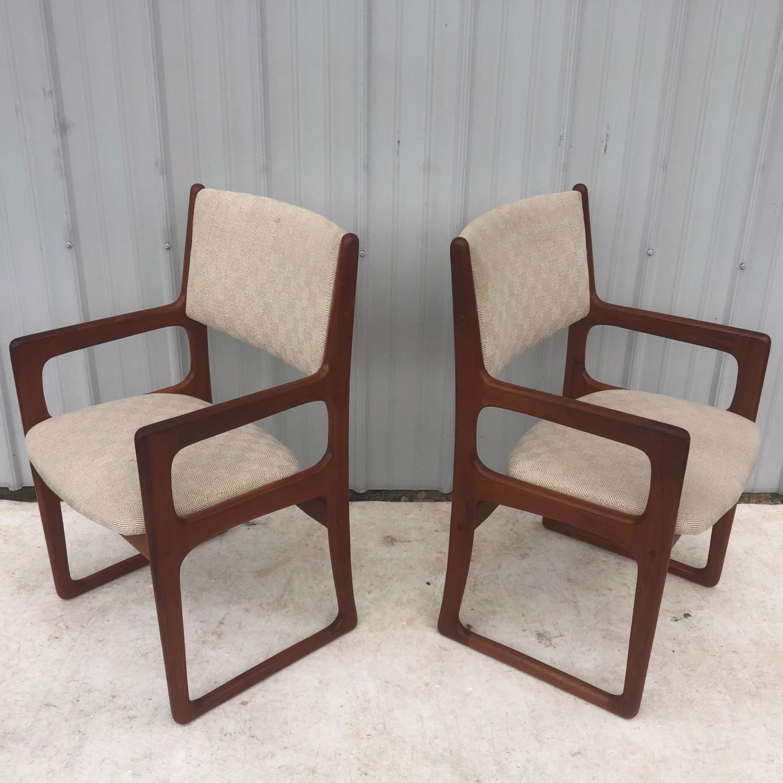 Set of Six Mid-Century Teak Dining Chairs - image-7
