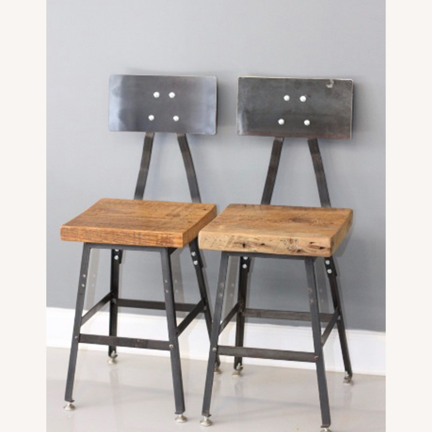 Handmade Reclaimed Solid Wood Dining Chair Set - image-0