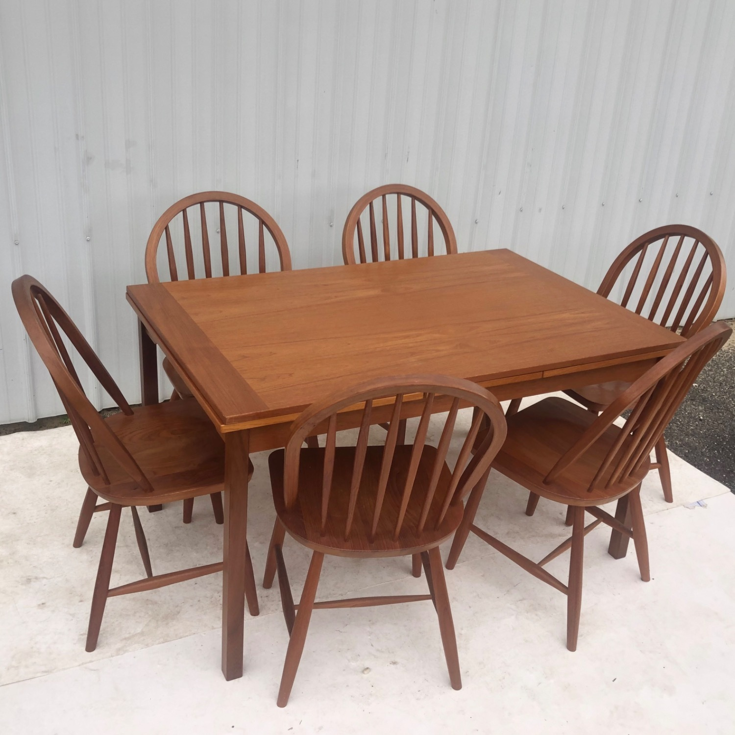 Vintage Modern Dining Set w/ Six Chairs - image-3