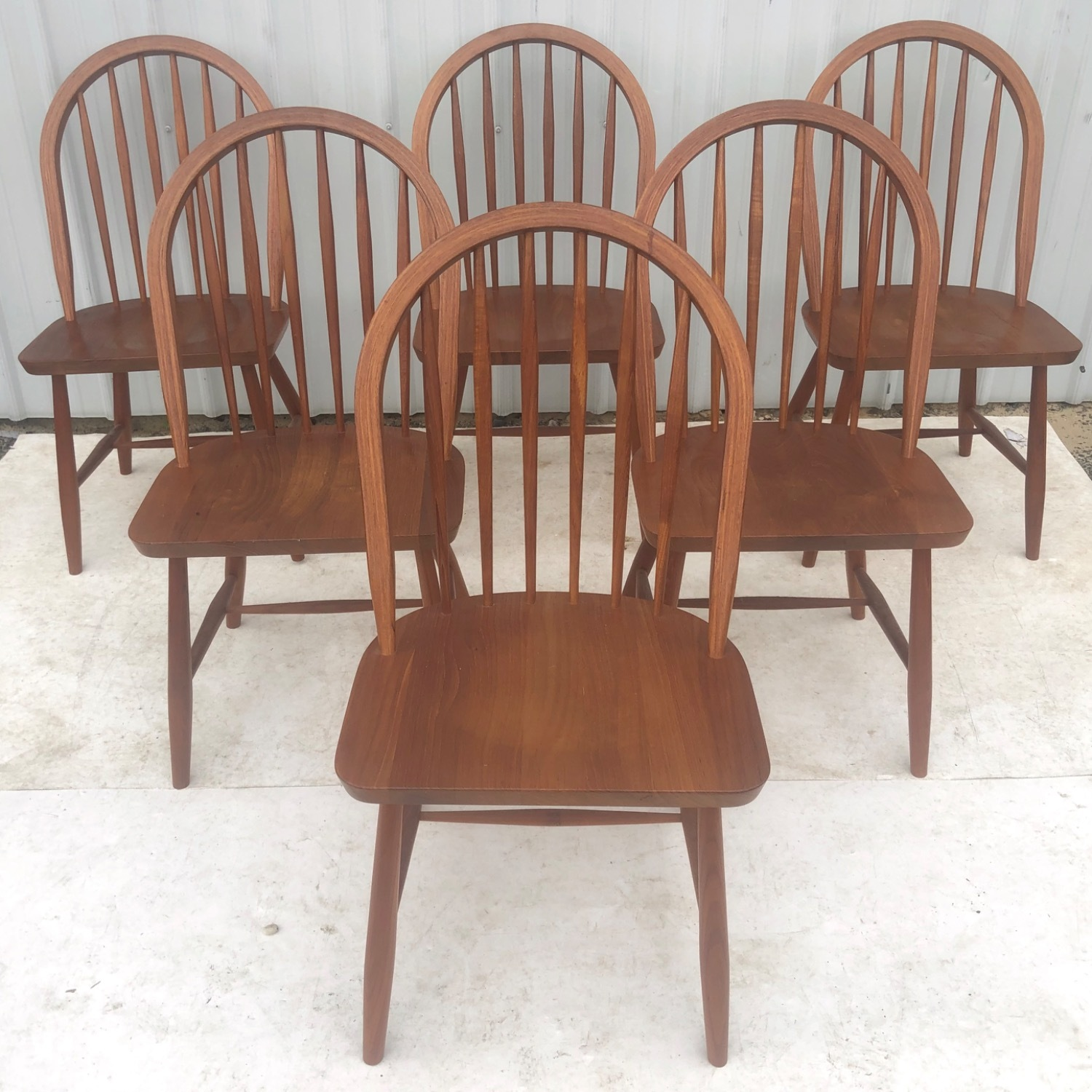 Vintage Modern Dining Set w/ Six Chairs - image-13