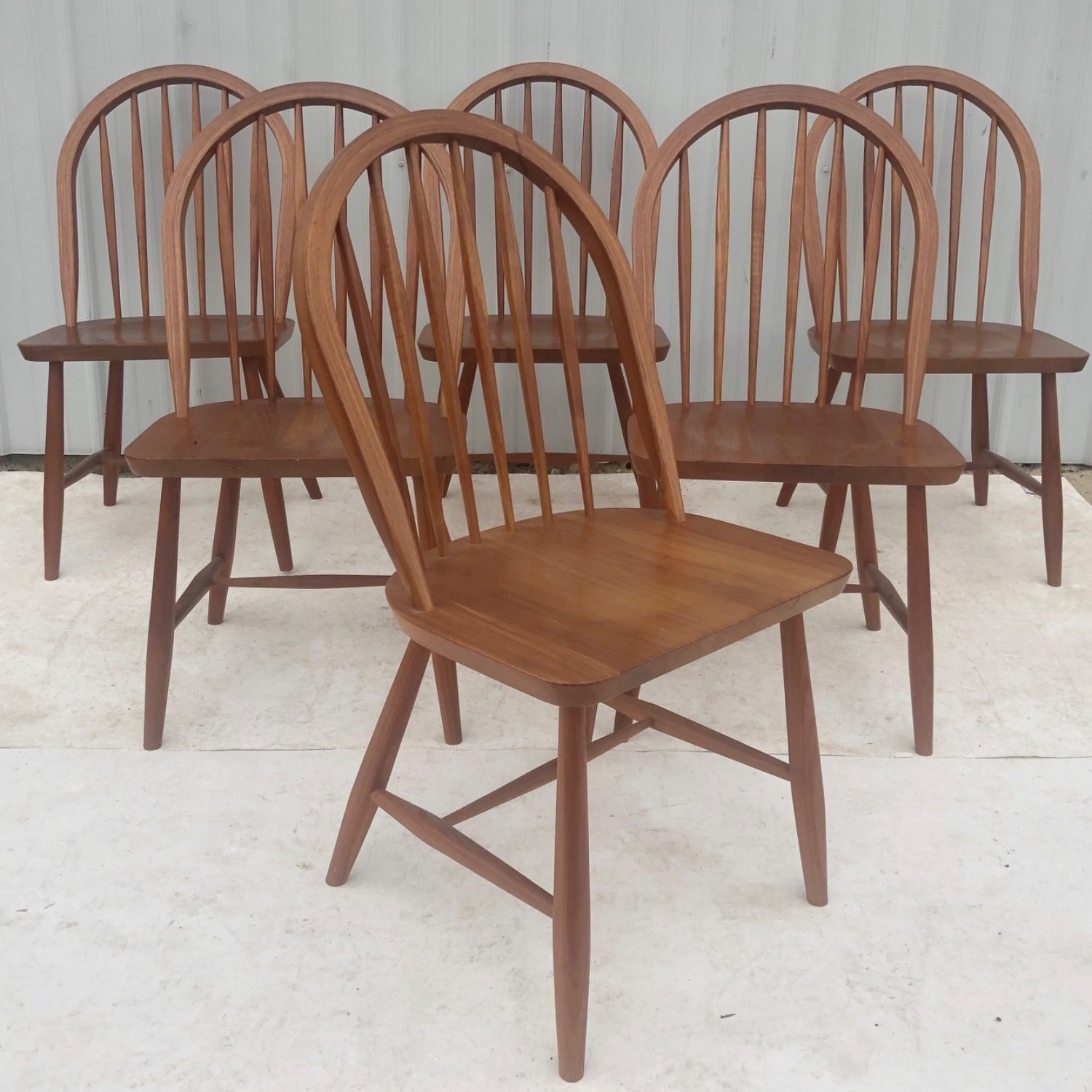 Vintage Modern Dining Set w/ Six Chairs - image-15