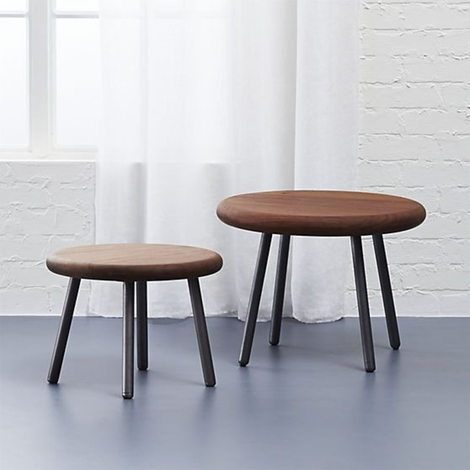 CB2 Wafer 2 Piece Nesting Table Set - image-1