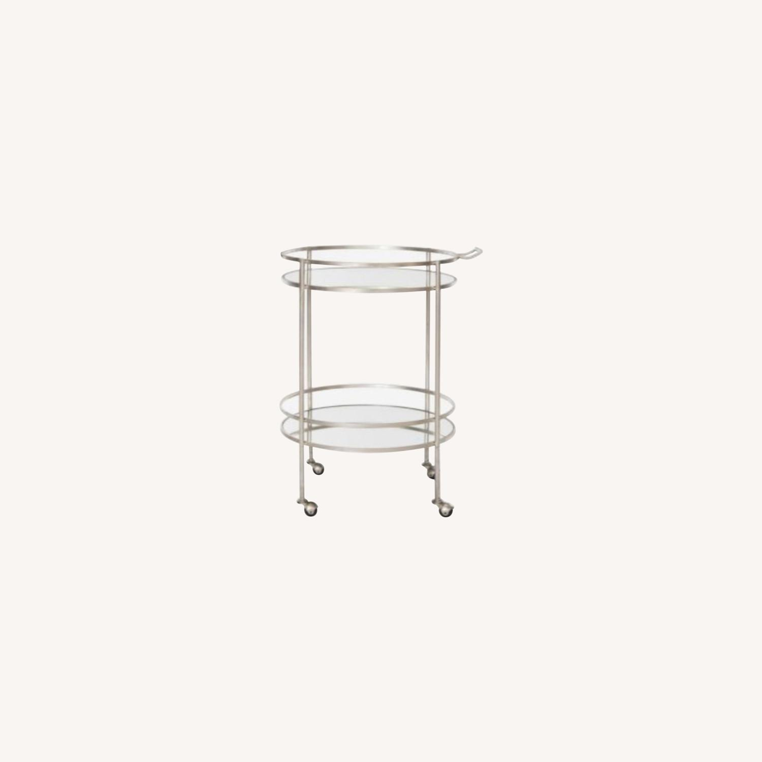 Safavieh Two Tier Bar Cart Gold and Mirror - image-0