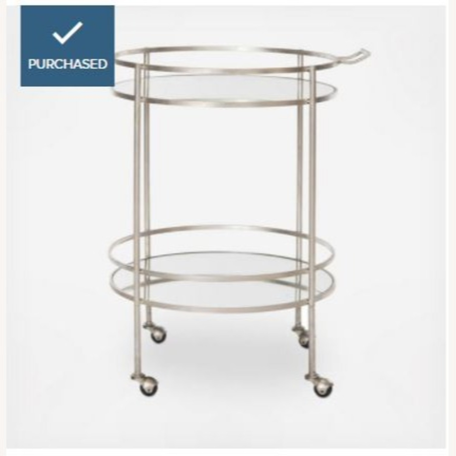 Safavieh Two Tier Bar Cart Gold and Mirror - image-1