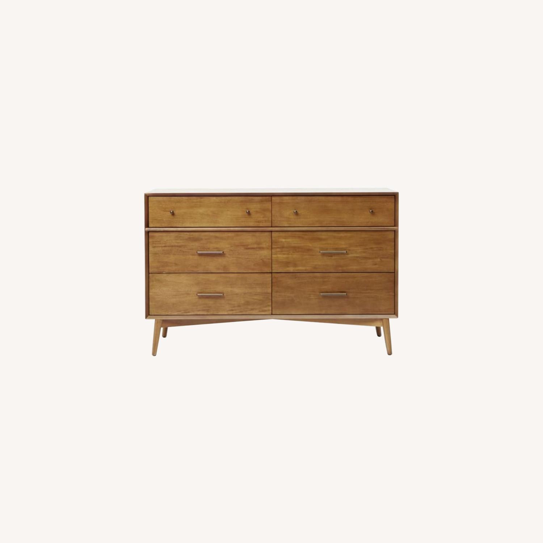 West Elm Mid-Century 6-Drawer Dresser - Acorn - image-0