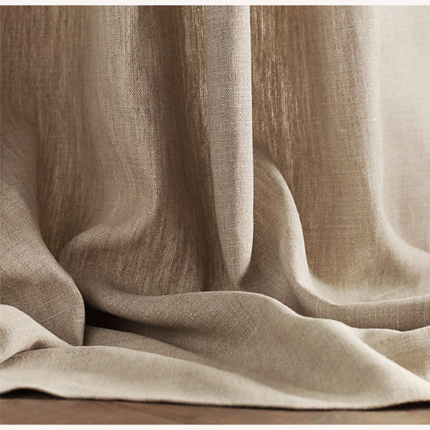 Restoration Hardware Belgian Linen Curtain Natural 108L - image-3