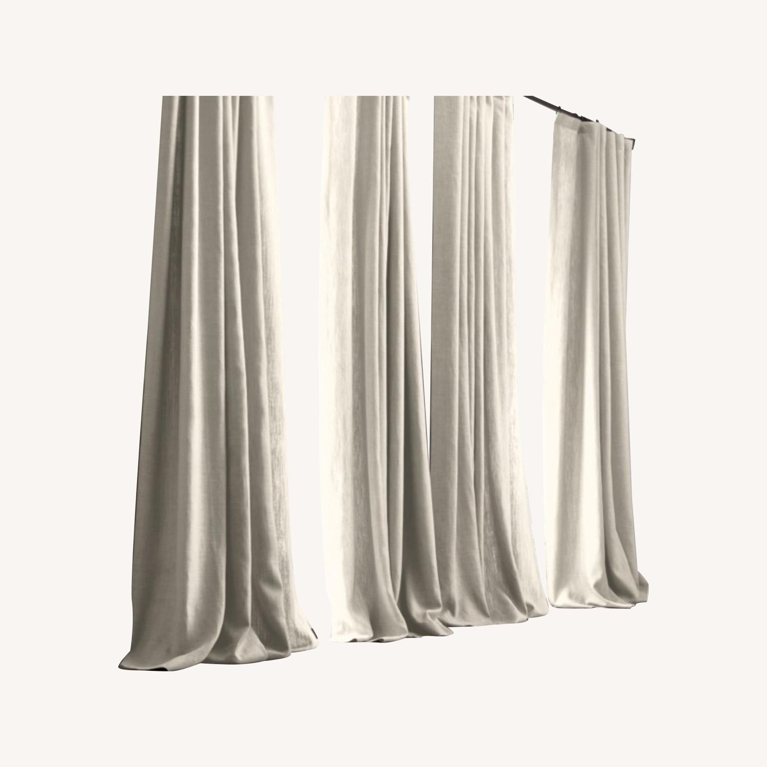 Restoration Hardware Belgian Linen Curtain Natural 108L - image-0