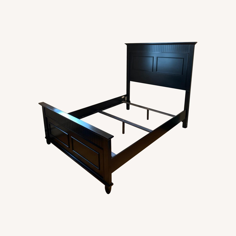 Bob S Discount Solid Wood Bed Frame In Black Aptdeco