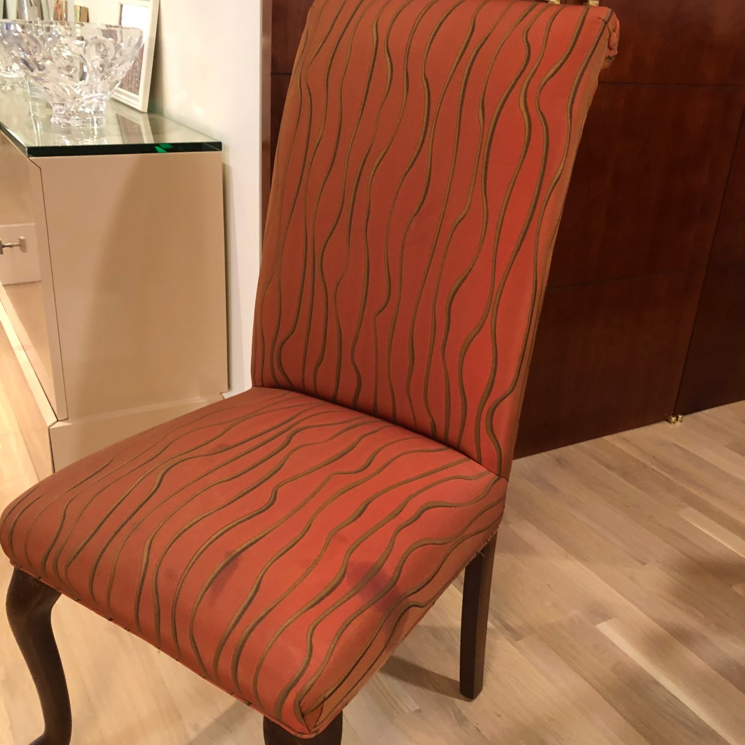 Vintage Custom Scroll Back Dining Chairs - image-6