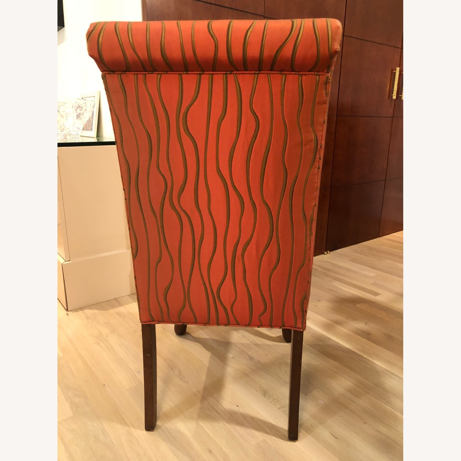 Vintage Custom Scroll Back Dining Chairs - image-3