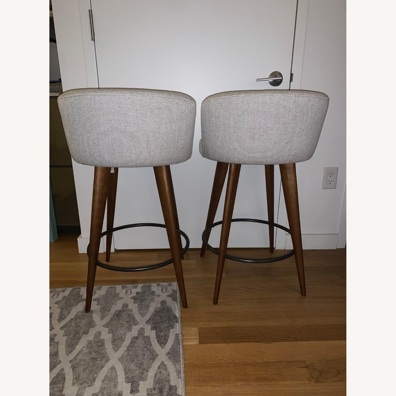 Set of 2 West Elm Counter Stools - image-1