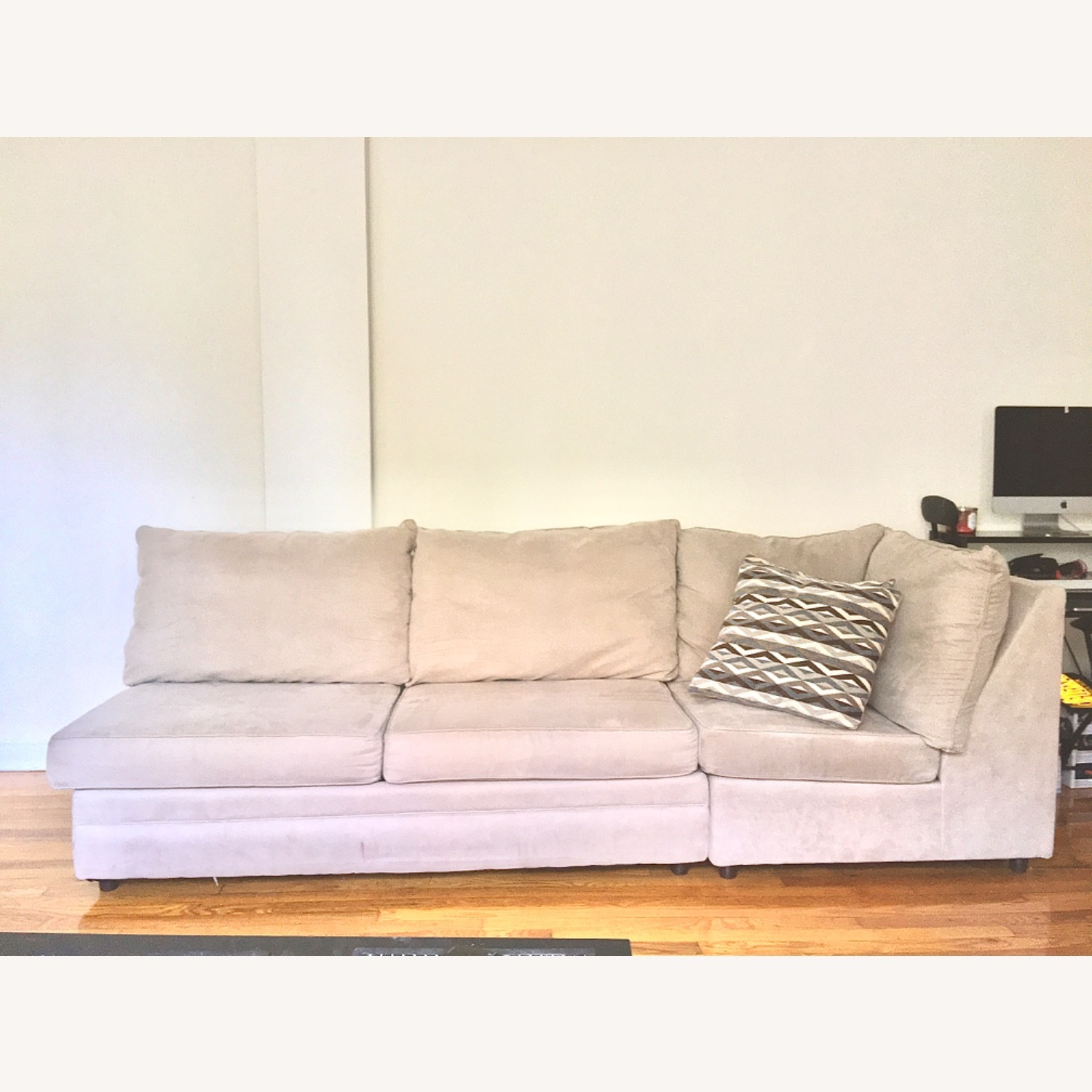 Bob's Discount Grey Two Piece Sofa - image-1