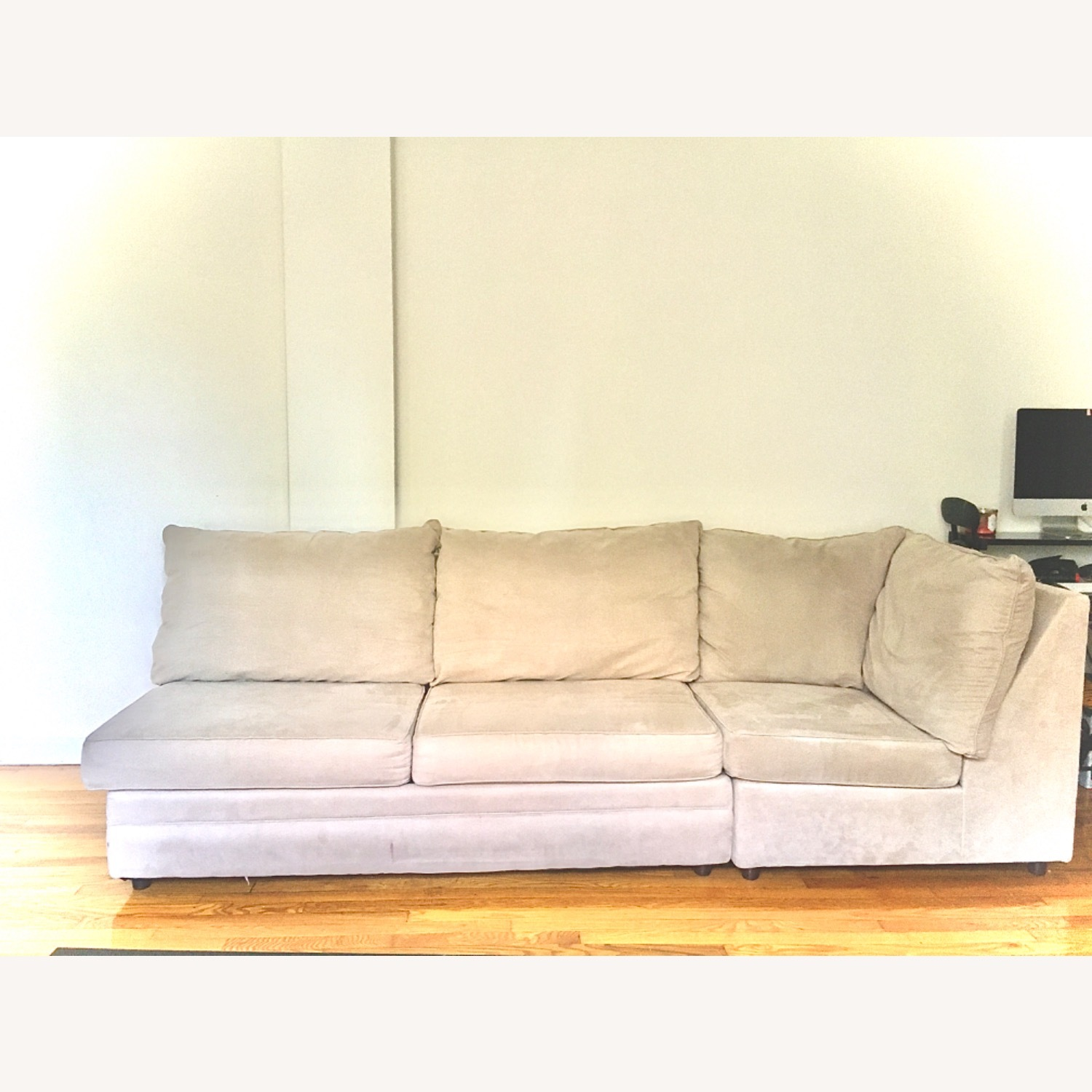 Bob's Discount Grey Two Piece Sofa - image-2