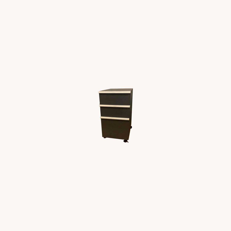 Crate & Barrel Filing Cabinet Desk Drawers - image-0