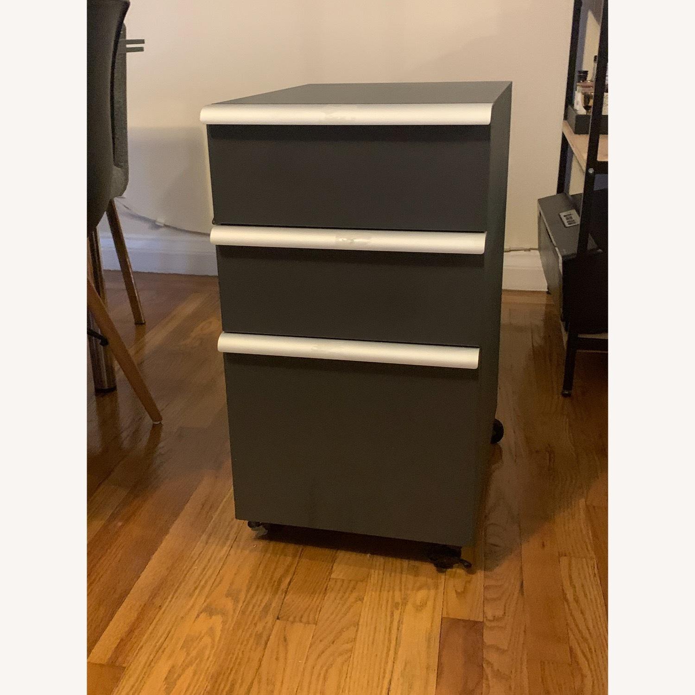 Crate & Barrel Filing Cabinet Desk Drawers - image-1