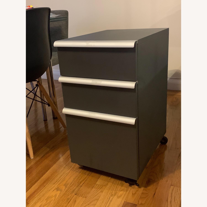 Crate & Barrel Filing Cabinet Desk Drawers - image-2