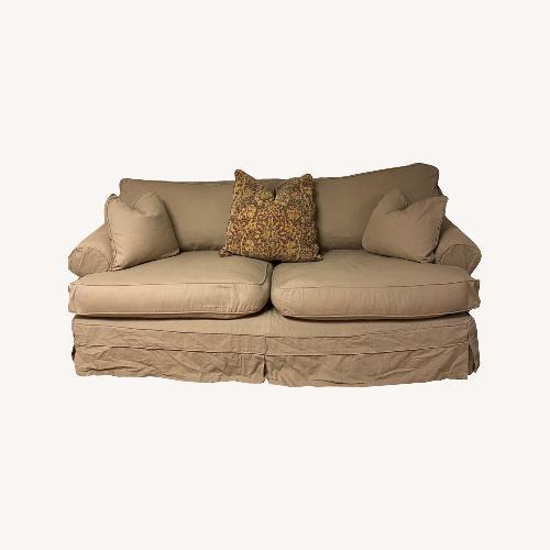 Used Paris Studio Down Sofa with Slip Covers for sale on AptDeco