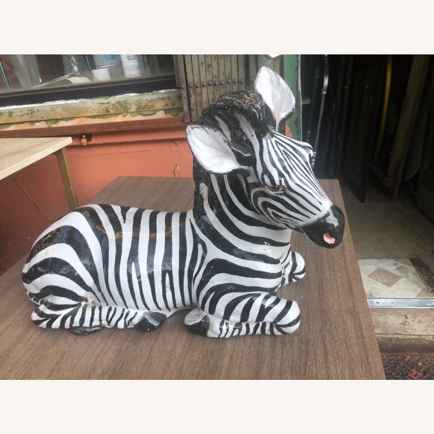Vintage 1960s Ceramic Zebra Made in Italy - image-2