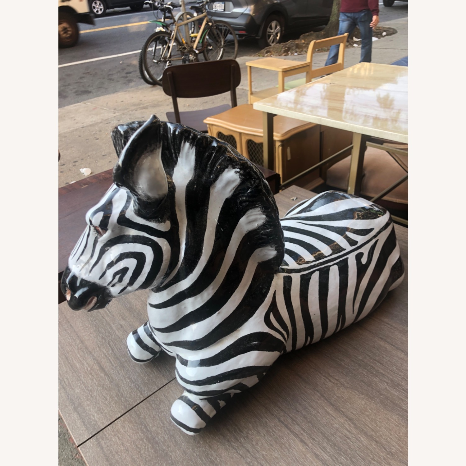 Vintage 1960s Ceramic Zebra Made in Italy - image-5