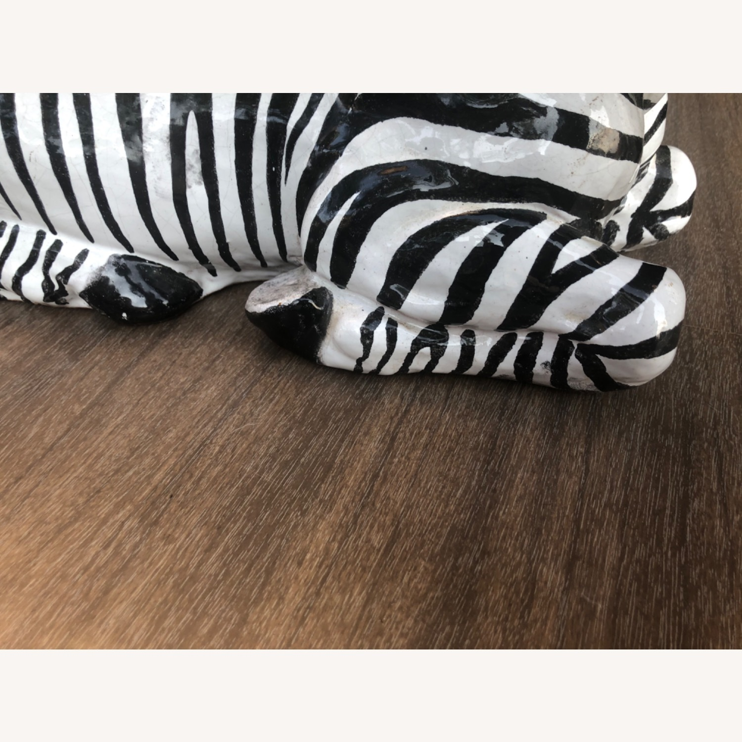Vintage 1960s Ceramic Zebra Made in Italy - image-9