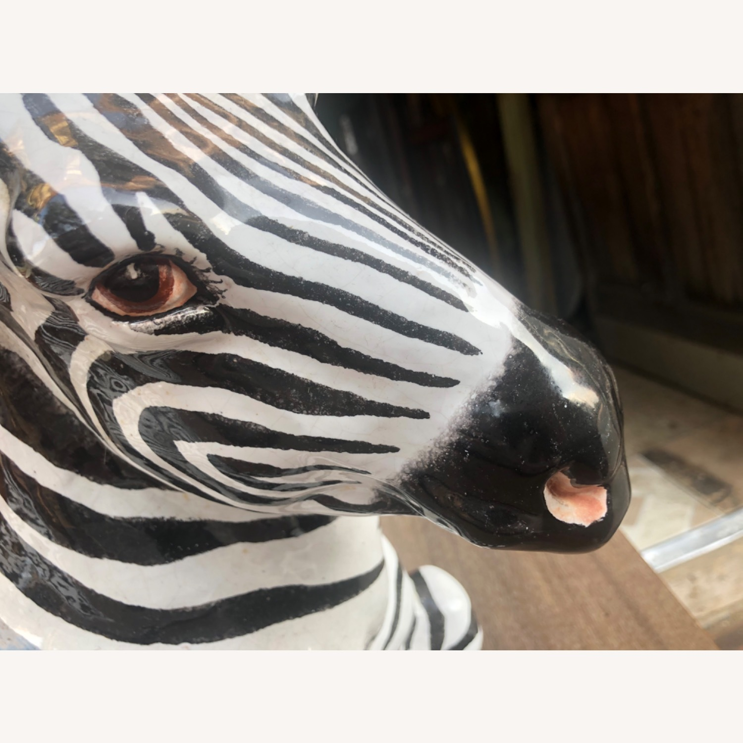 Vintage 1960s Ceramic Zebra Made in Italy - image-8
