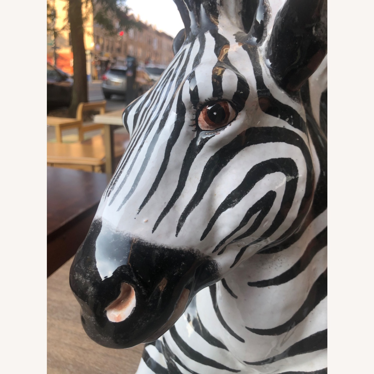 Vintage 1960s Ceramic Zebra Made in Italy - image-4
