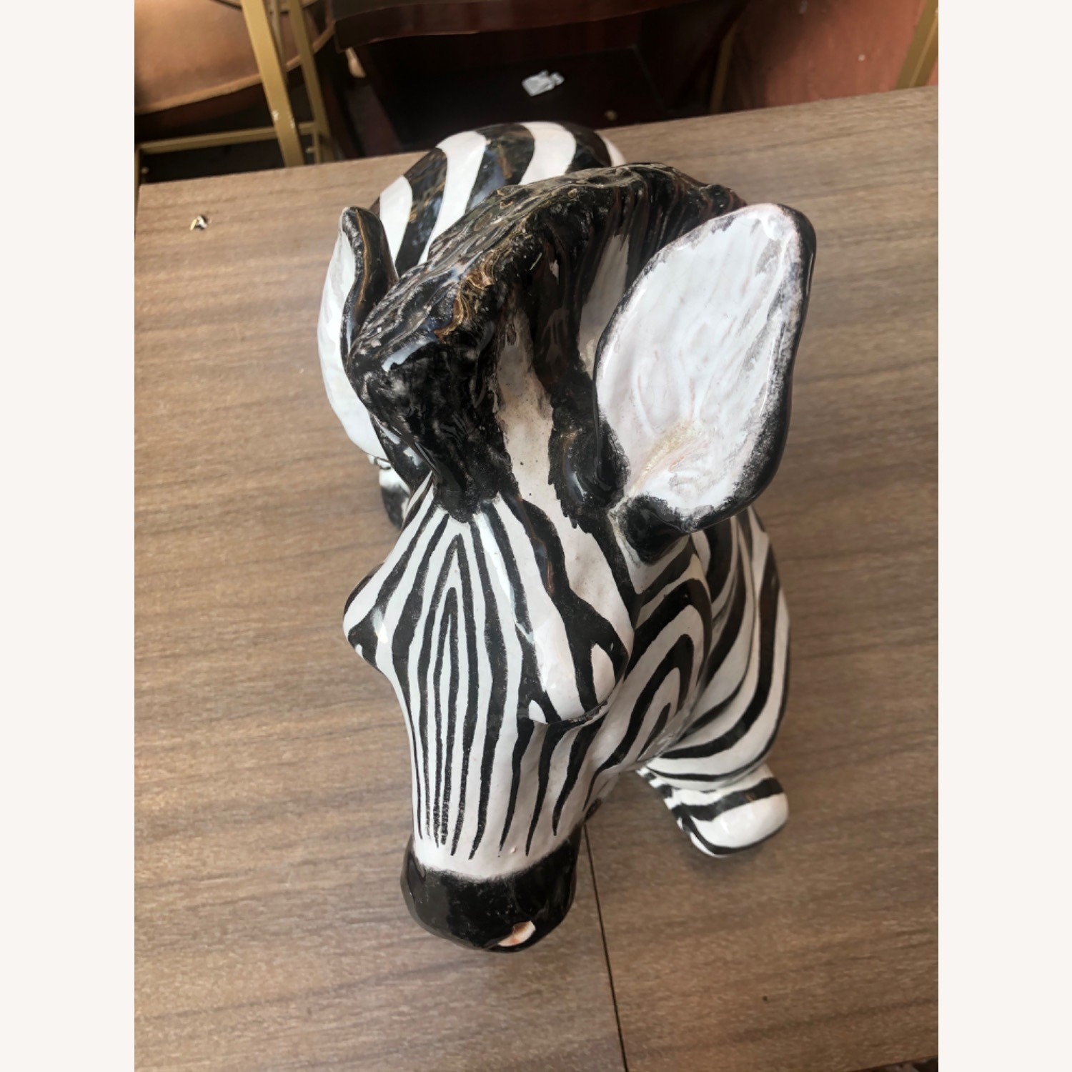 Vintage 1960s Ceramic Zebra Made in Italy - image-6