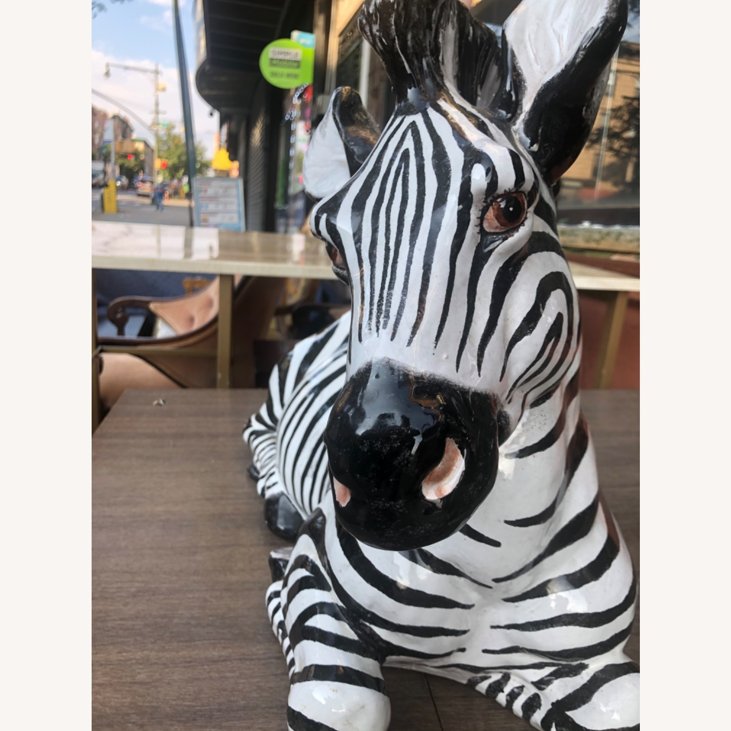 Vintage 1960s Ceramic Zebra Made in Italy - image-3