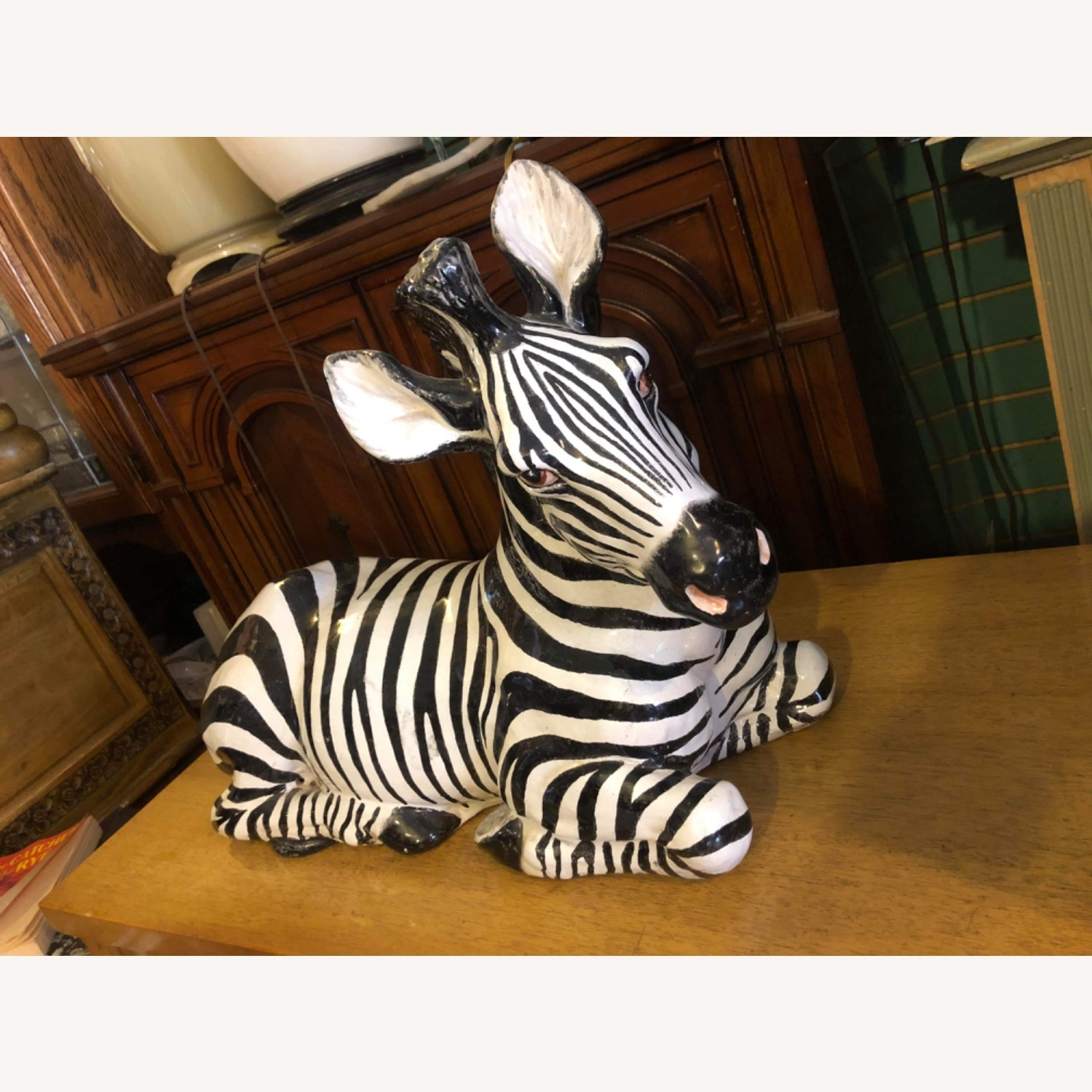 Vintage 1960s Ceramic Zebra Made in Italy - image-14