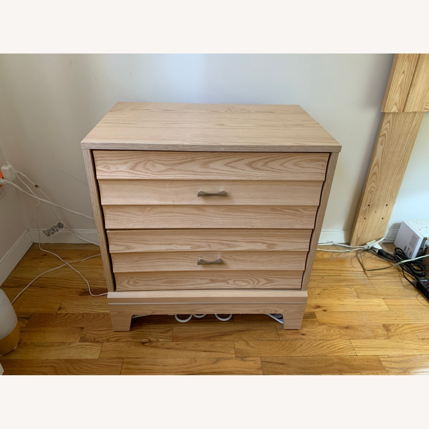 Unbranded nightstand and Queen-sized headboard - image-1