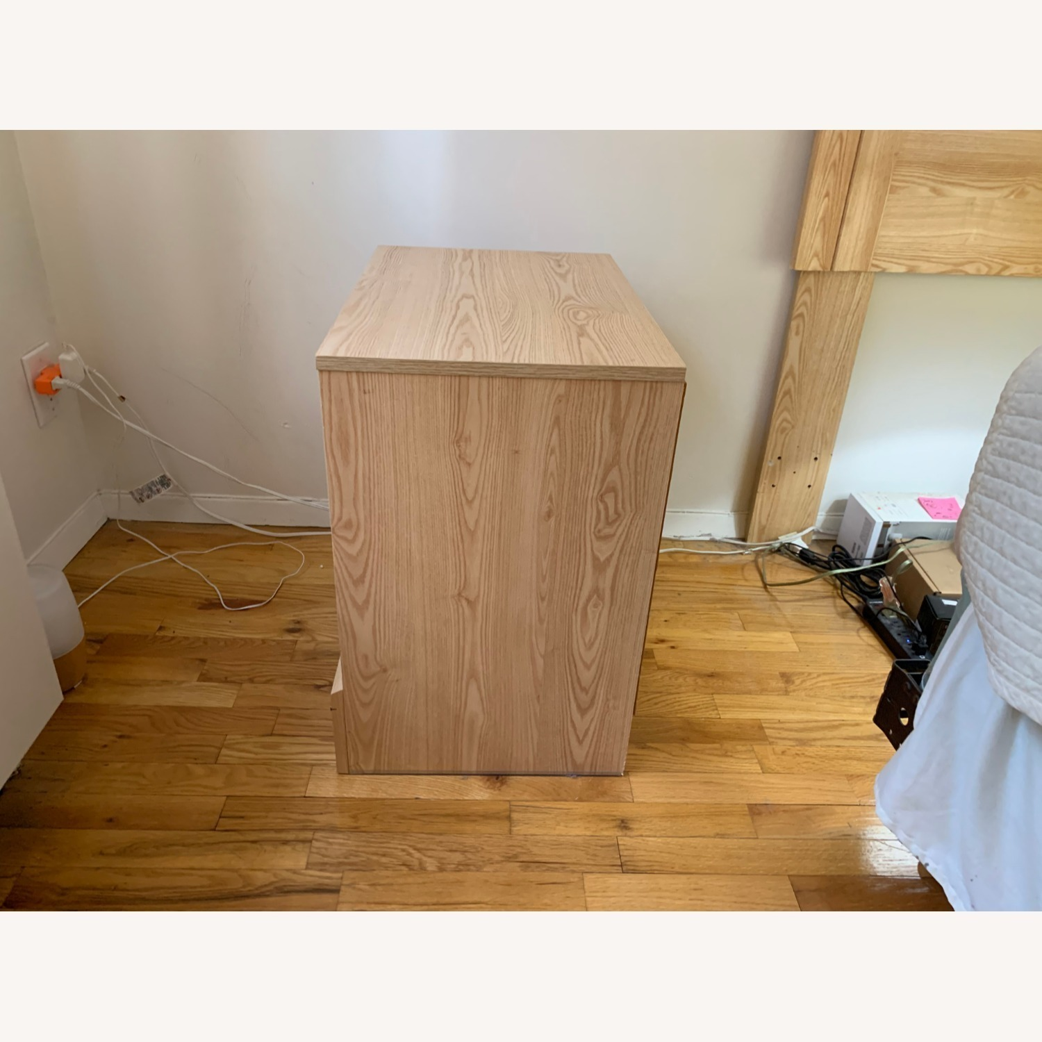 Unbranded nightstand and Queen-sized headboard - image-3