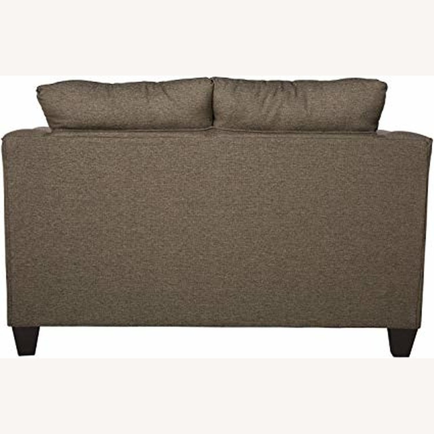 Flared Arms Loveseat In Neutral Grey - image-2