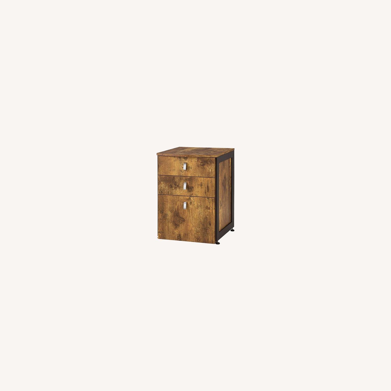 3-Drawer Cabinet In Antique Nutmeg Finish - image-4