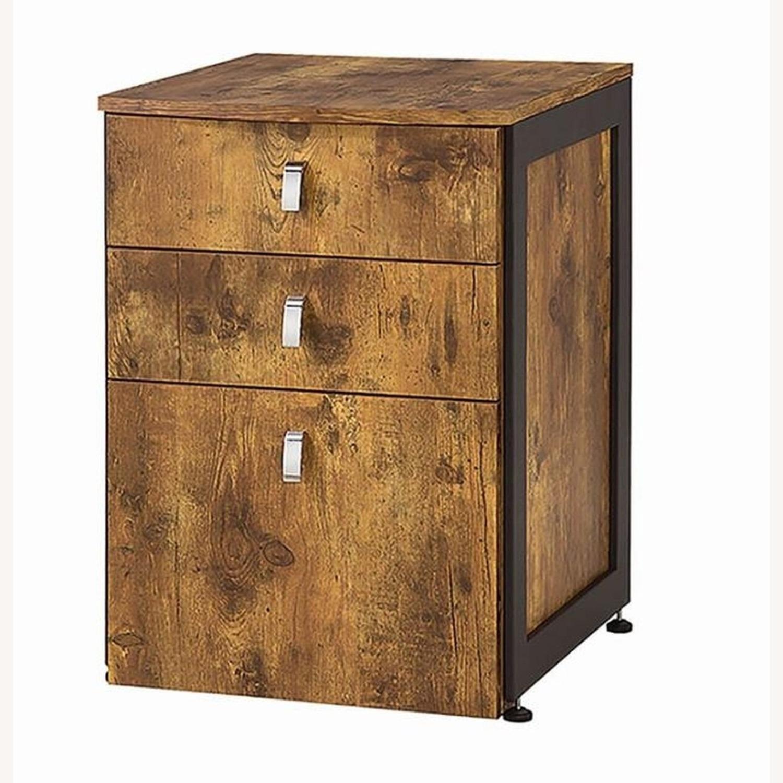 3-Drawer Cabinet In Antique Nutmeg Finish - image-0