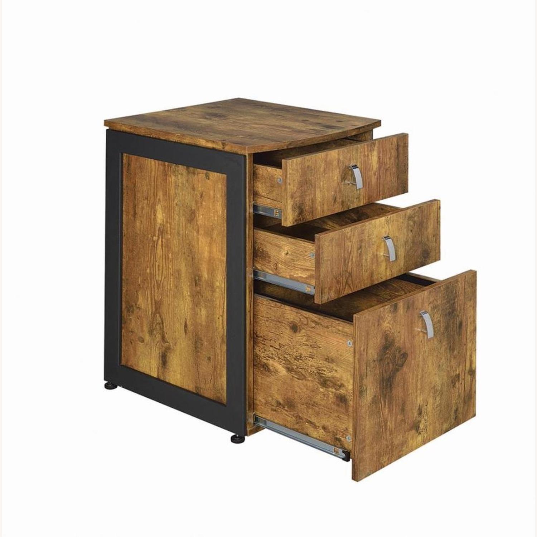 3-Drawer Cabinet In Antique Nutmeg Finish - image-1