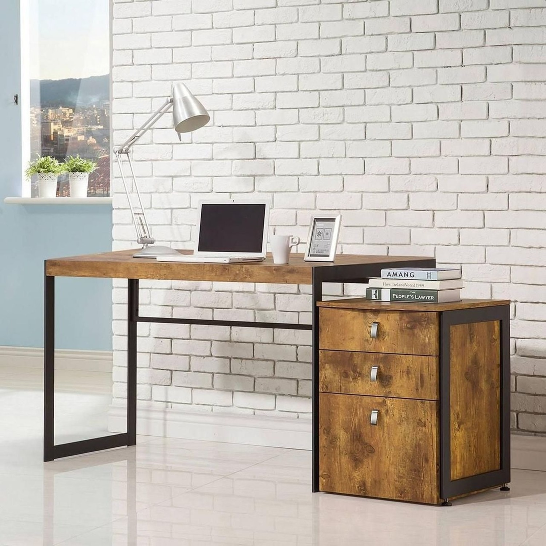3-Drawer Cabinet In Antique Nutmeg Finish - image-3