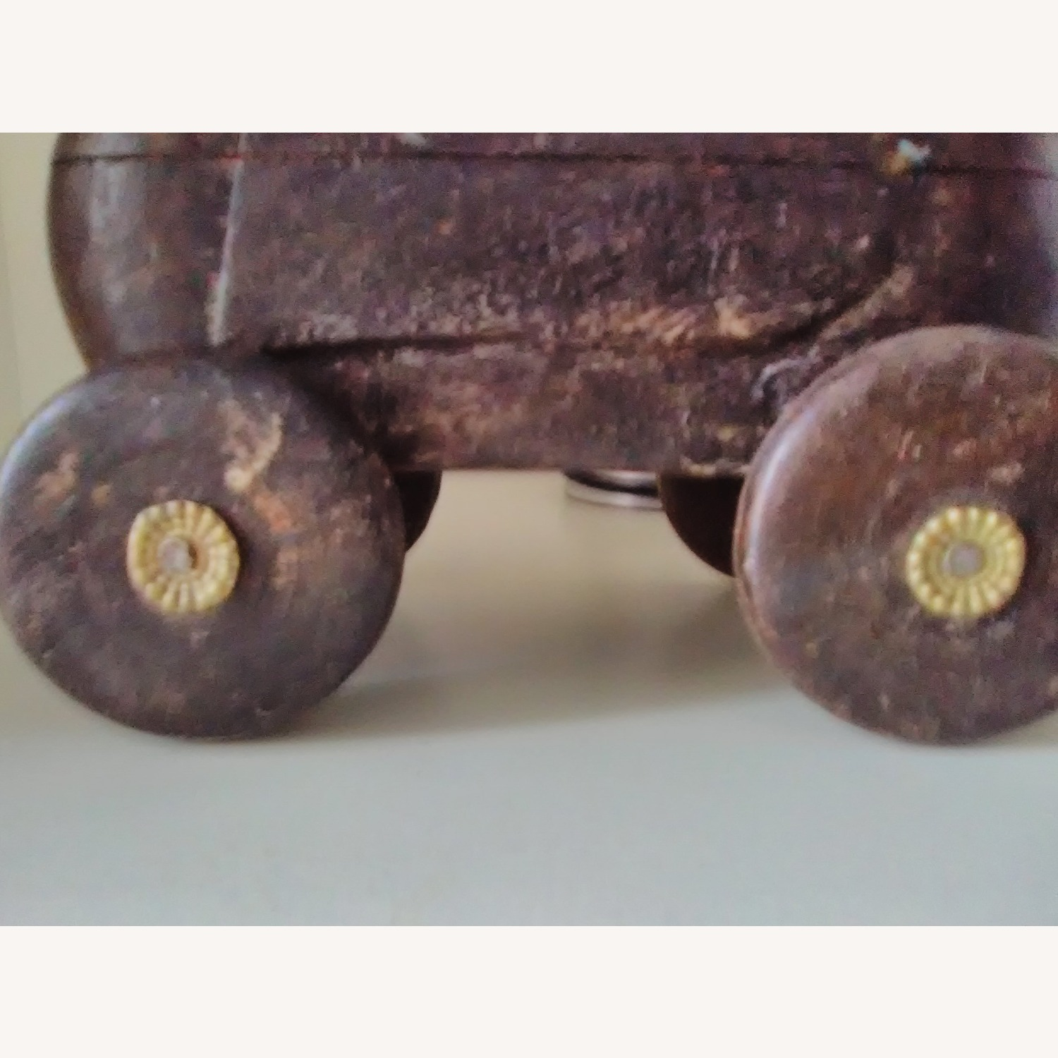 Vintage Handcrafted Wooden Horse On Wheels - image-6