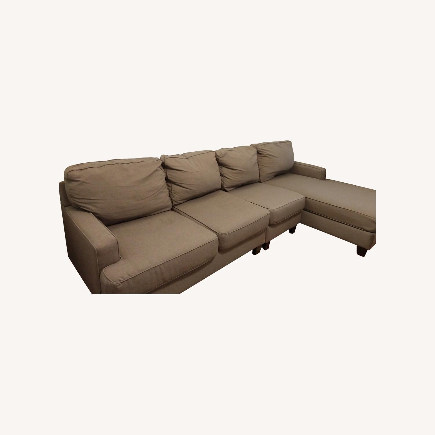 Ashley Chamberly 3pc Grey Sectional With Chaise Aptdeco