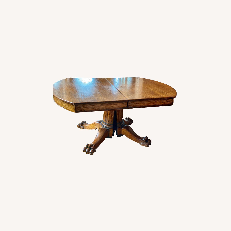 Antique Lion Leg Table - image-0