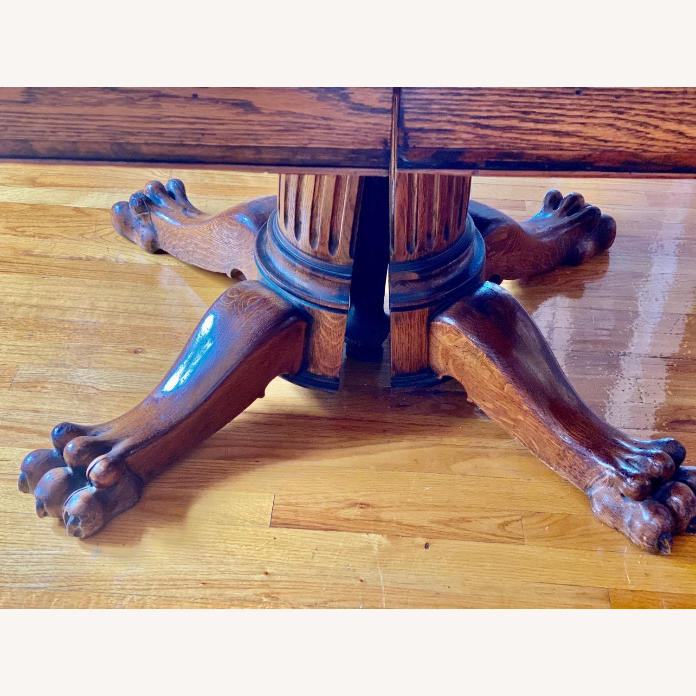 Antique Lion Leg Table - image-3