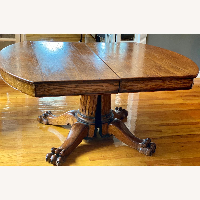 Antique Lion Leg Table - image-1