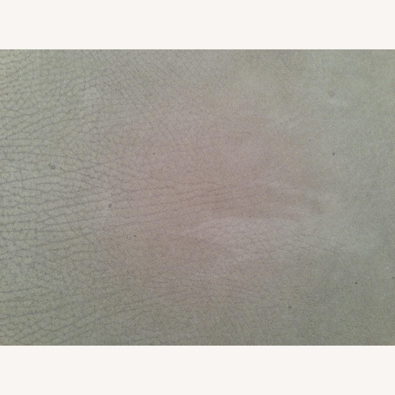 Desiron Taupe Antelope Suede Chrome Bar Stools (2) - image-3