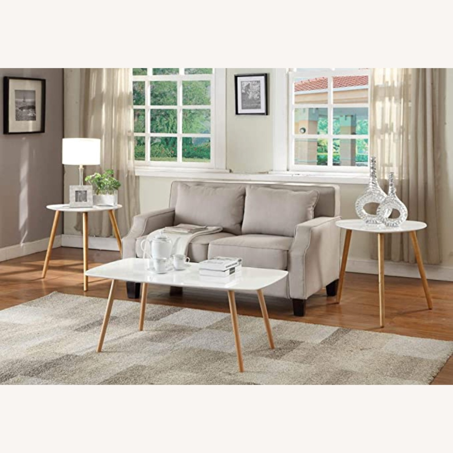 White Lacquer Coffee Table - image-3